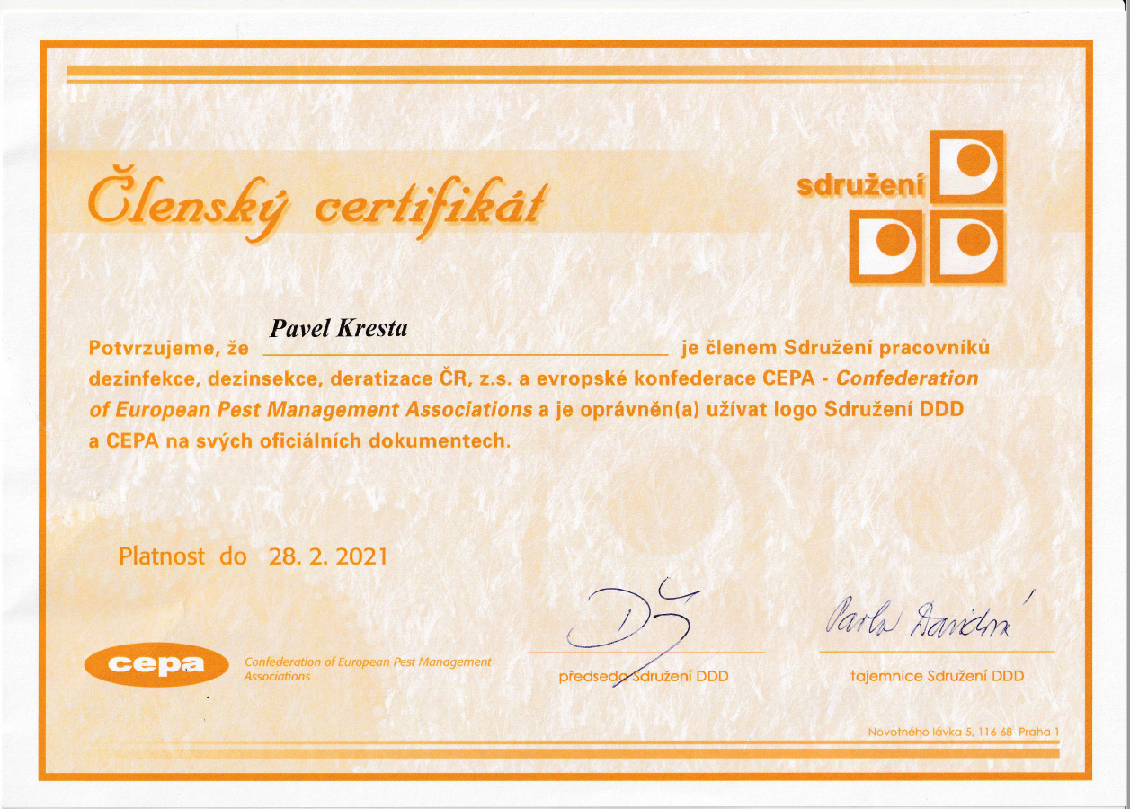 Členský certifikát